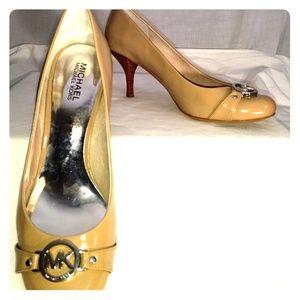Michael Kors Nude Signature Heel, Size: 9M